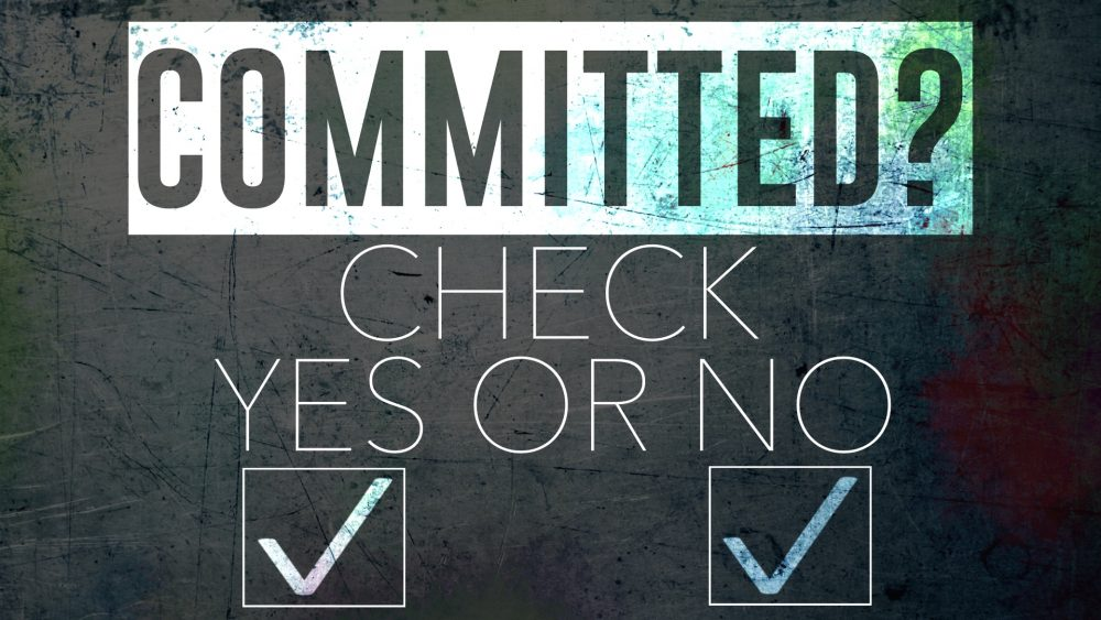 Committed? Check Yes or No Image