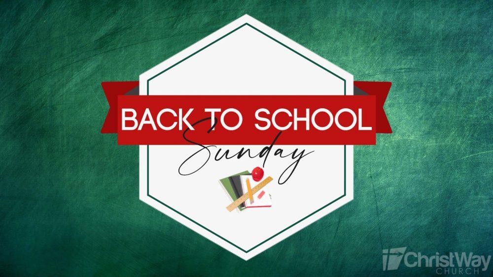 Back to School Sunday Image